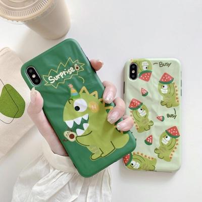 아이폰 귀여운 커플 공룡 캐릭터 슬림 실리콘 케이스