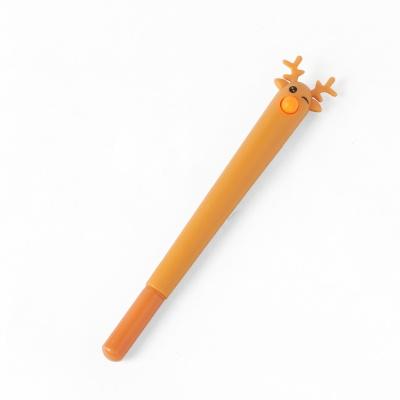 꽃사슴 디자인 중성볼펜(브라운) (0.5mm)