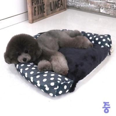 반달미키침대 중 (네이비) 애견침대 고양이 쿠션용