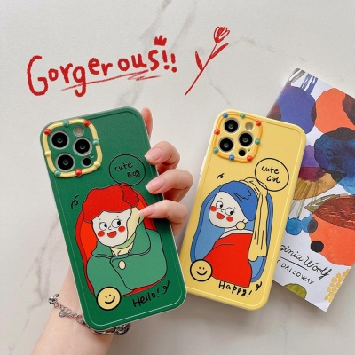 아이폰 x xr xs max se2 7 디자인 소녀 소프트케이스
