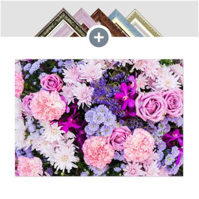 인테리어 캔버스 꽃액자 선인장액자 분홍과 파랑