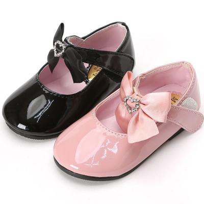 매직 하트공단리본B 유아 여아용 베이비 구두 신발