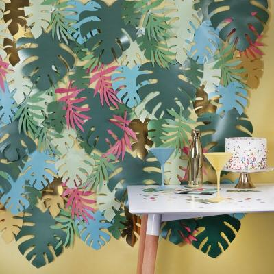 트로피칼 나뭇잎 백드롭 Leaf Party Backdrop GR