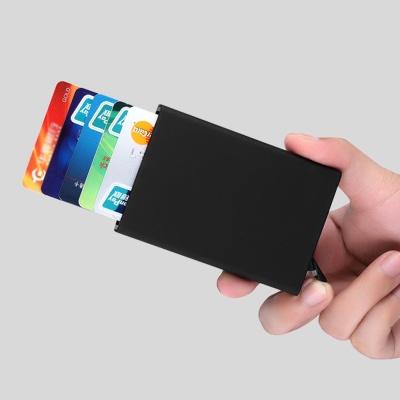 RFID차단 팝업 슬라이드 카드지갑(블랙)