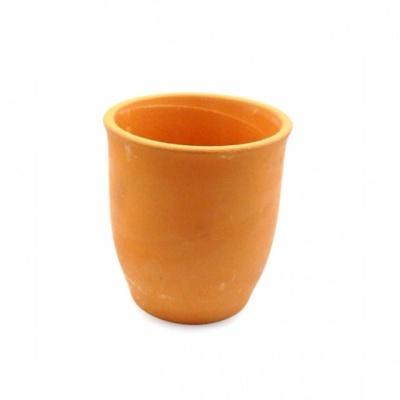 황토빛 컵 모양 색막분 9x10cm 토분 갈색 화분