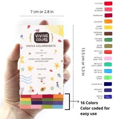비비바 스프링세트 컬러시트 16색 단품