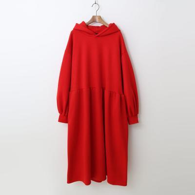 Gimo Hood Puff Long Dress