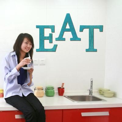 우드스티커- EAT (컬러완제) 레터링 글자 W466 포인트