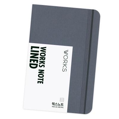 [무료 이니셜각인]웍스 노트 라인드 20 그레이 맥시