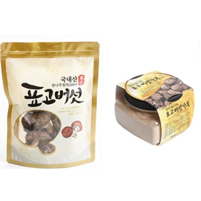 [참나무] 표고버섯 100g(원형)+분말 100g