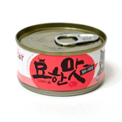 묘한맛 고양이 캔 80g 참치 타우린 반려묘 간식