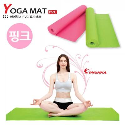 아이워너 PVC 요가매트 4mm (핑크)