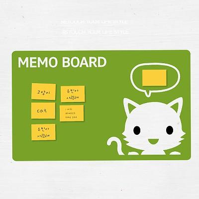 [아빠곰스티커]메모판_고양이