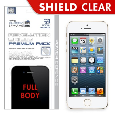 [프로텍트엠/PROTECTM] 아이폰5s/iPhone5s 레볼루션쉴드 프리미엄팩 전신보호필름+액정보호필름