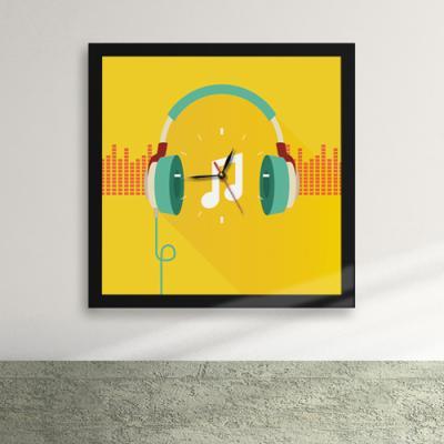 cy366-사운드 뮤직 액자벽시계_디자인액자시계