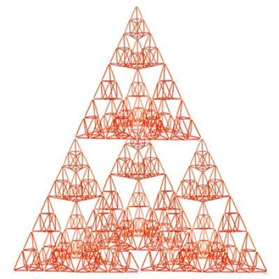 [G12521 4D프레임] 시에르핀스키 삼각형(이등변 4단계)