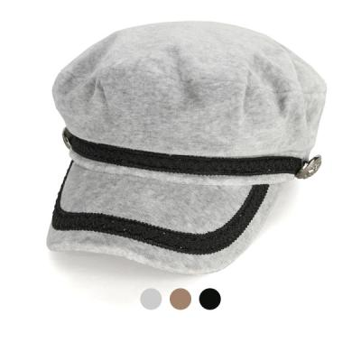 [디꾸보]라인 배색 버튼 헌팅캡 모자 AC406