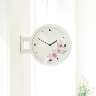 Morden Double Clock Flower(WH)