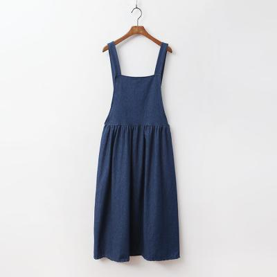 Anne Denim Overall Long Dress