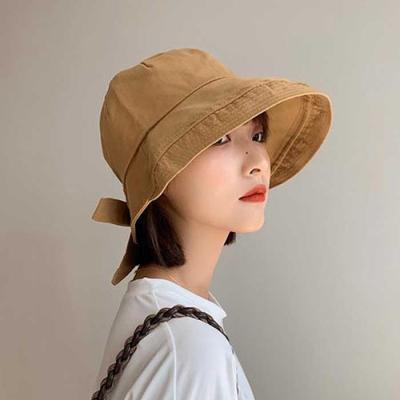 Mujer verano daily 빅챙리본 벙거지모자 3color