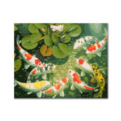 DIY 보석십자수 - 연못의 비단잉어 BEE18 (50x40)