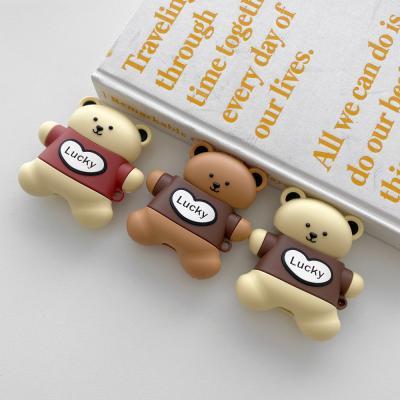 에어팟케이스 귀여운 곰돌이 실리콘 럭키베어 ap-0106
