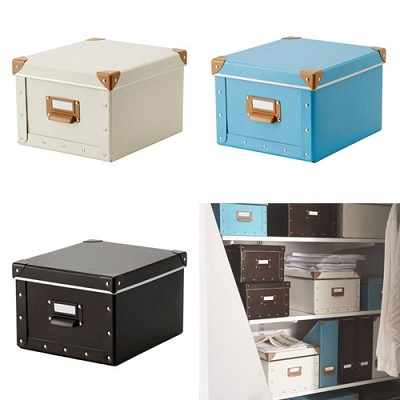 FJALLA box with lid/ 수납함 세트 (22*27*16)