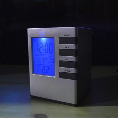 큐브 펜꽂이 탁상시계 6800