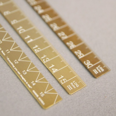 로그 황동자 15cm (Slim type)_Slim Brass Ruler