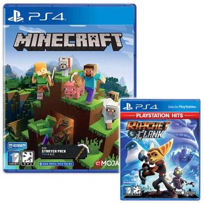 PS4 마인크래프트 스타터팩 + 라쳇앤클랭크 (더블팩)
