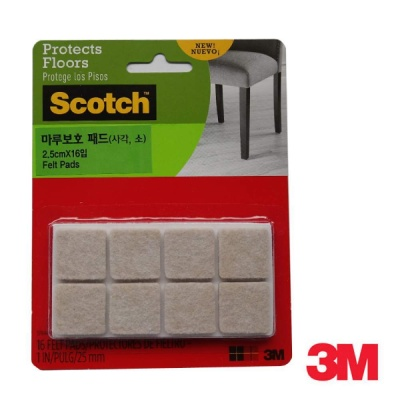 3M 스카치 마루보호 패드(사각, 소) SP844