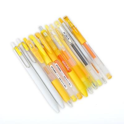 베스트 옐로우컬러 젤잉크펜 0.38-0.5mm
