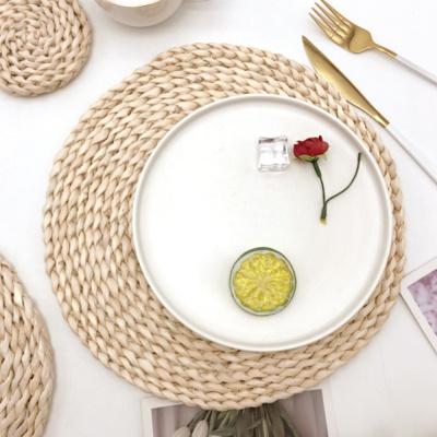 플레이팅 라탄식 식탁매트/ 30cm 원형 테이블매트