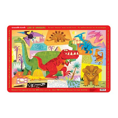 [Crocodile Creek] Land of Dinosaurs Placemat
