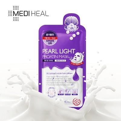 [메디힐]  물광 진주 프로아틴 마스크팩 1매 / 수분가득 단백질 마스크