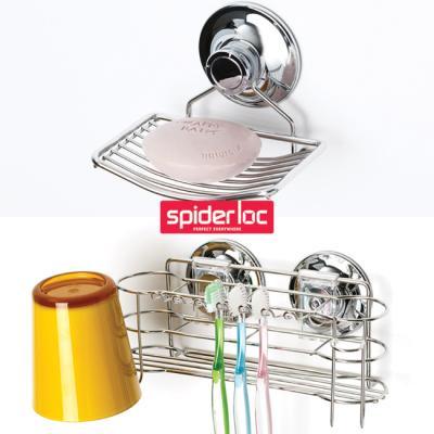 [굿센스] 스파이더락 욕실수납 2종세트