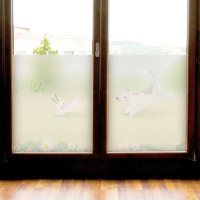af539-토끼와강아지의잡기놀이_글라스시트지