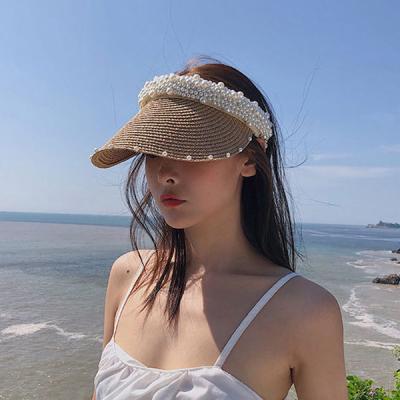 쎄니 라탄 진주포인트 여름 자외선차단 썬캡