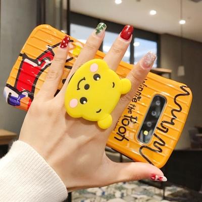 개럭시s10/플러스 캐릭터 그립 핸드폰거치세트 케이스
