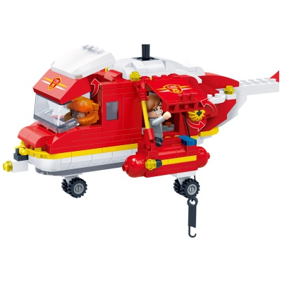 [3D퍼즐마을][반바오] BO7128 소방 헬리콥터