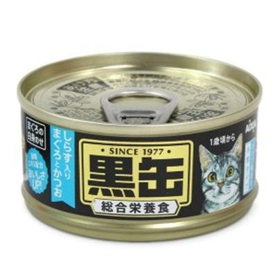 고양이 간식 캔 통조림 흑관 치어 참치 가다랑어 80g