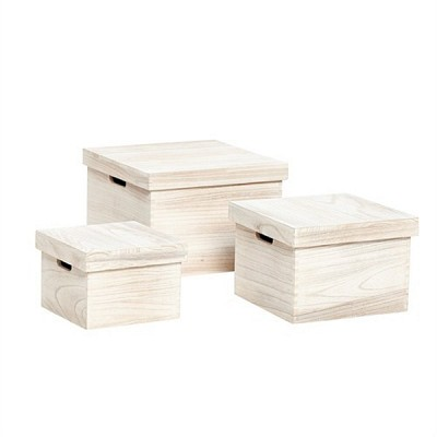 [Hubsch]Empress tree box, square, light, s/3 167001 수납박스