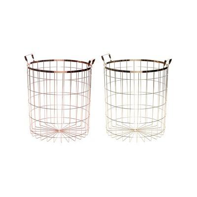 [Hubsch]Basket w/handles, metal 바스켓