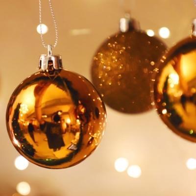 크리스마스 장식볼 오너먼트 5cm 16입 (버건디)