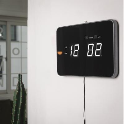 오리엔트 화이트LED OT825LD 날짜표시 디지털벽시계