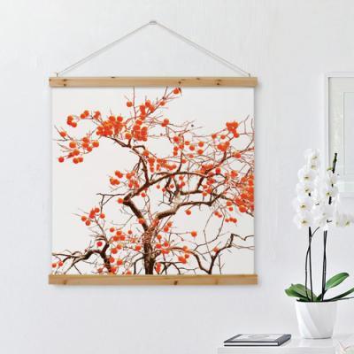pi373-우드스크롤_90CmX90Cm-그림같은풍수감나무