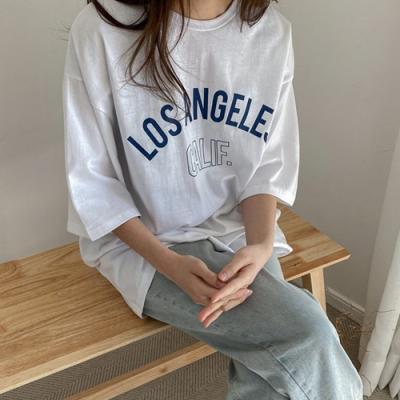 [애슬릿]국내 면 100% 여성 오버 박스 반팔 티 셔츠