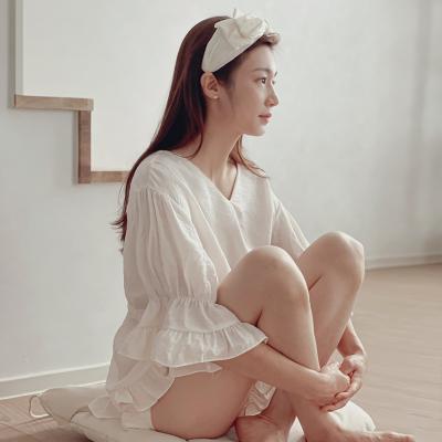 프릴 잠옷 헤어밴드 세트_2color