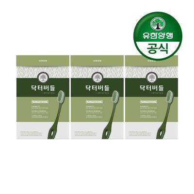 [유한양행]닥터버들 이중미세모 칫솔 6입 3개