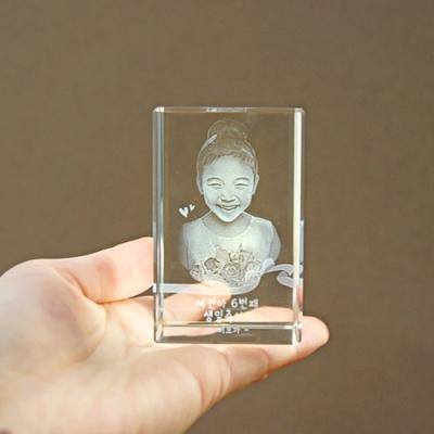 585 직각 - 인물입체조각 3D크리스탈